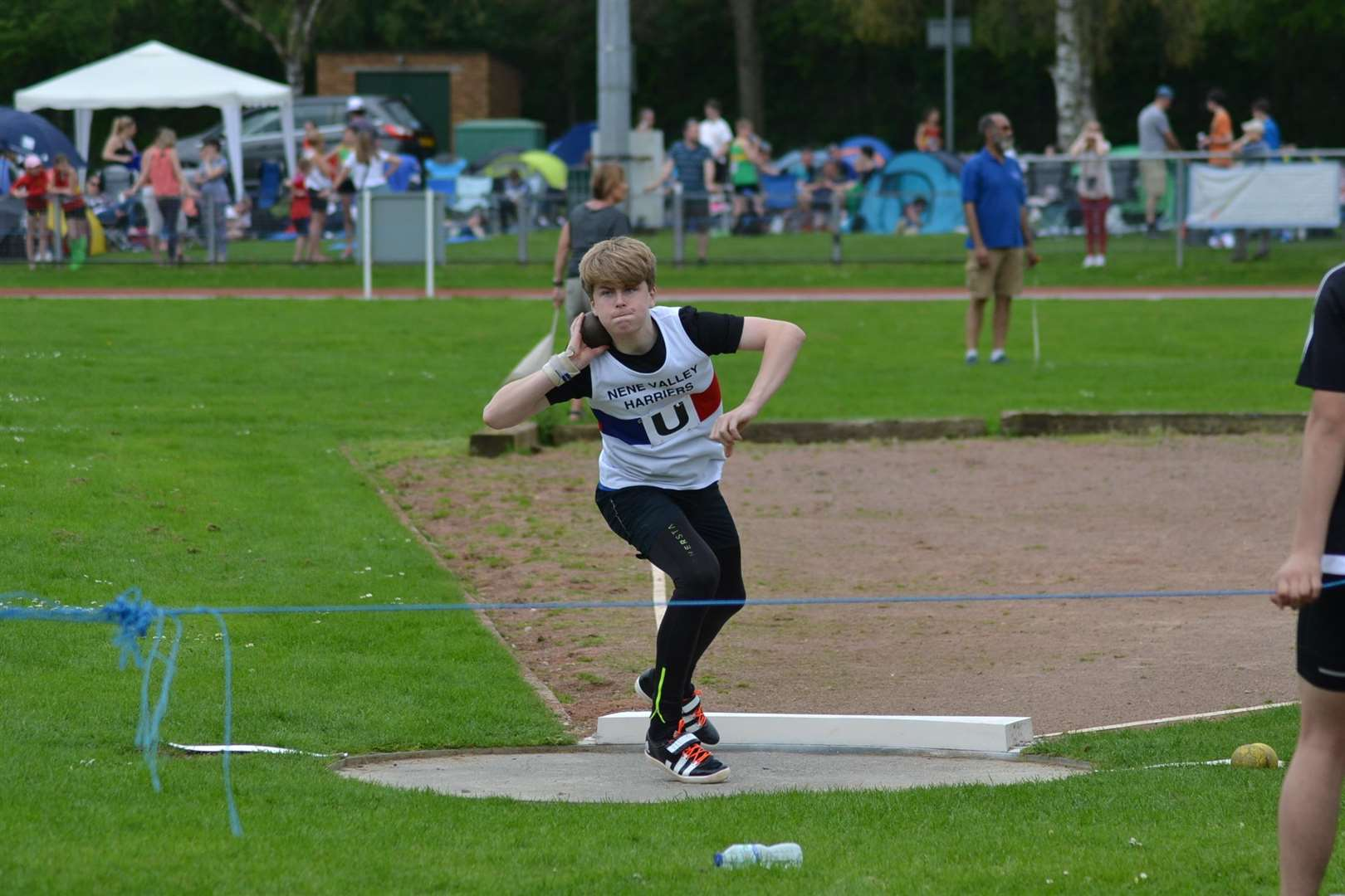 Donovan Capes set a new under-15 shot put personal best of 13.33m. at an open meeting in Kettering at the weekend.