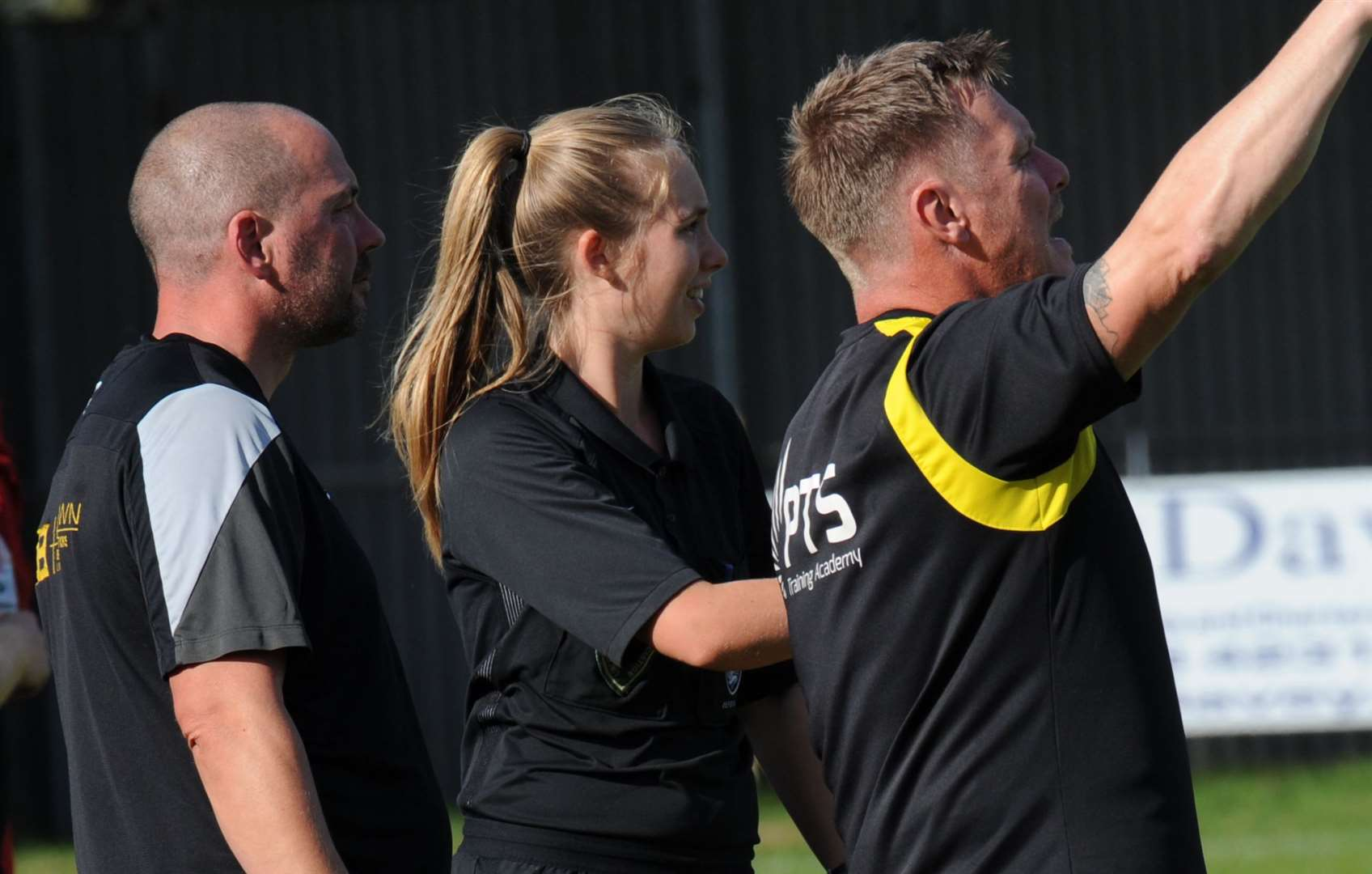 Holbeach United manager Phil Barnes (left) and coach Martyn Bunce.Photo by Chris Lowndes.