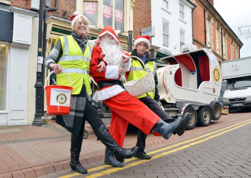 Santa will be dropping by as part of the festivities in the Market Place on Saturday.