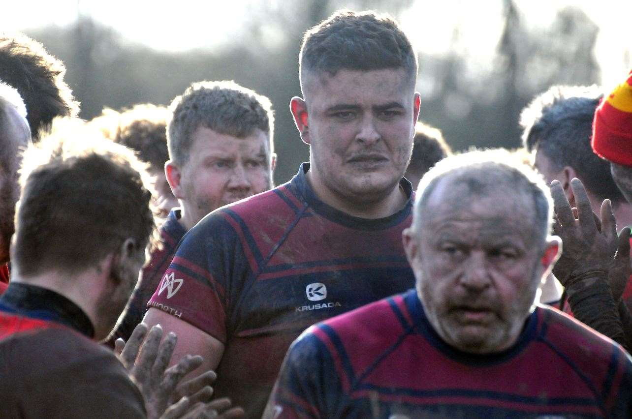 Spalding hooker John Barrett (front) will miss Spalding's league game at Rushden & Higham this Saturday.Photo: SG-290220-045TW.