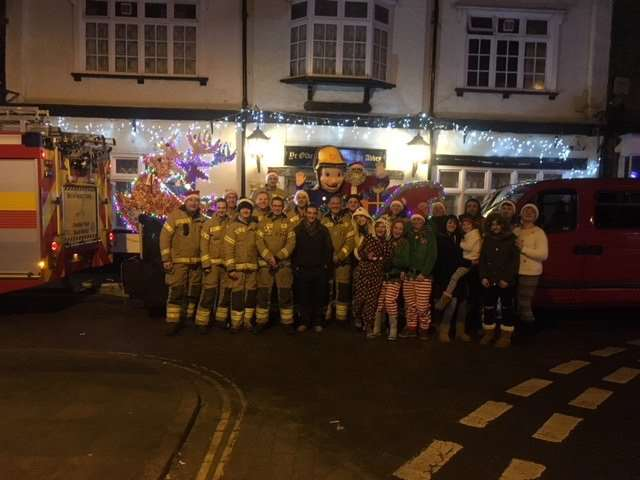 Crowland firefighters and Fireman Sam