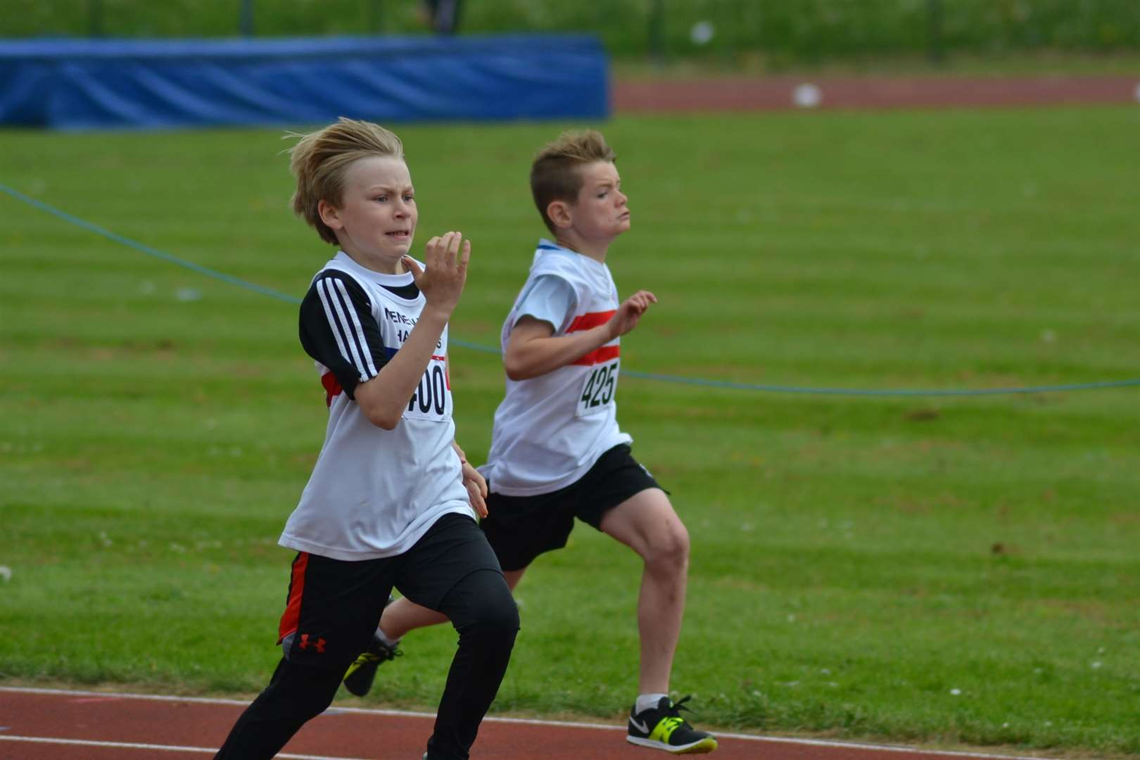 Lawson Capes holds the Lincolnshire under-11 record for the 80m with a time of 11.5secs set in June.