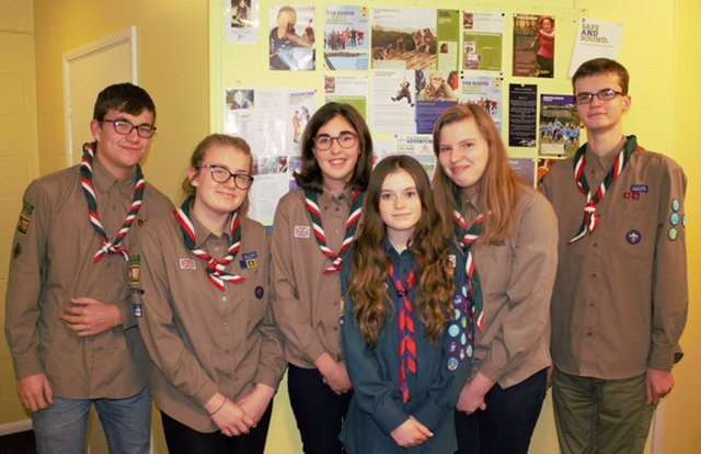 Scouts from South Holland who are off to the World Scout Jamboree in the USA.