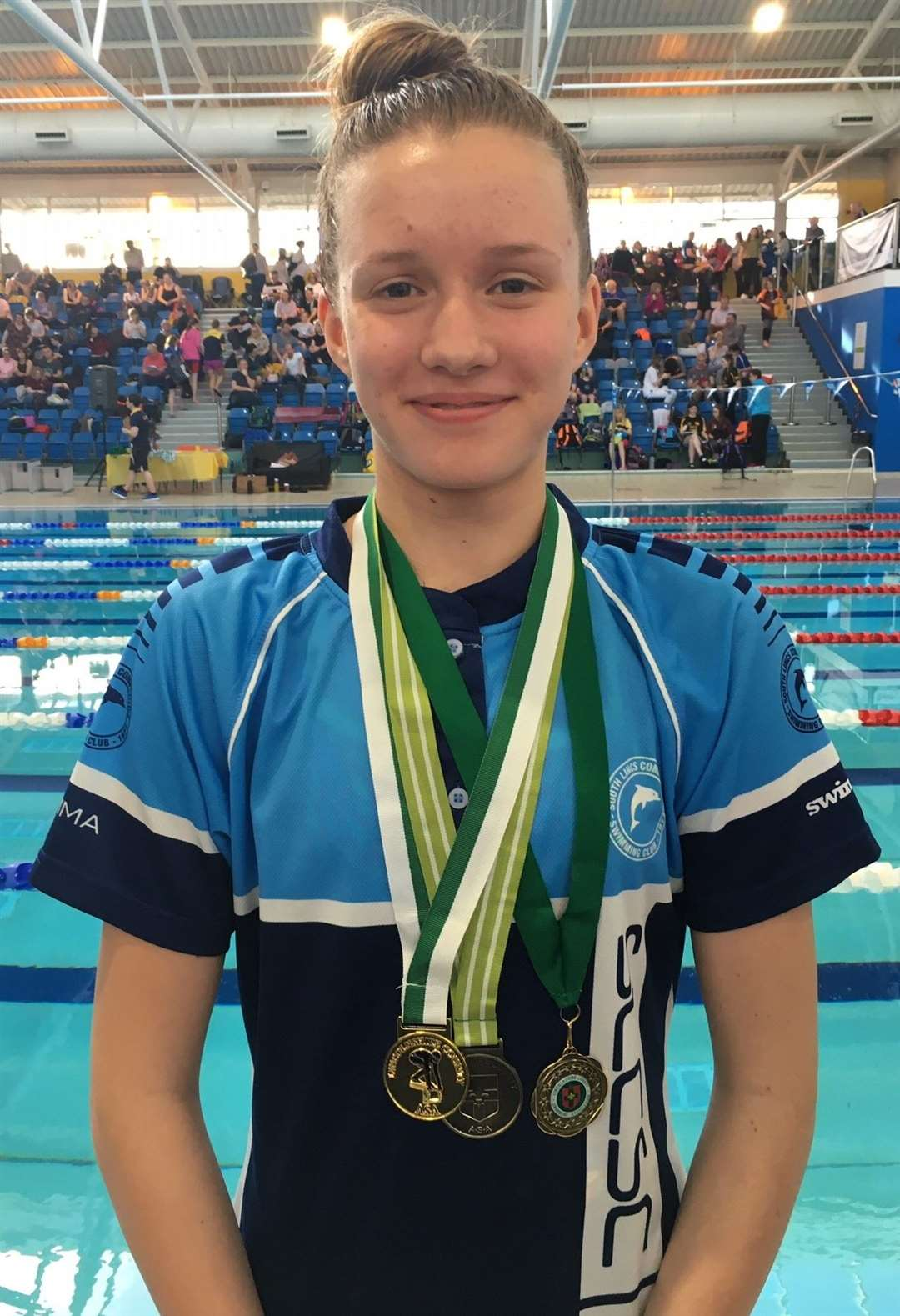 South Lincs Competitive Swimming Club double gold medallist Emma Croker.Photo supplied.