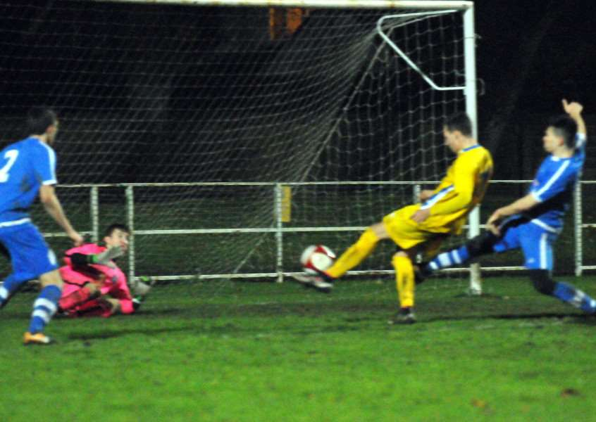 The fifth goal for Spalding