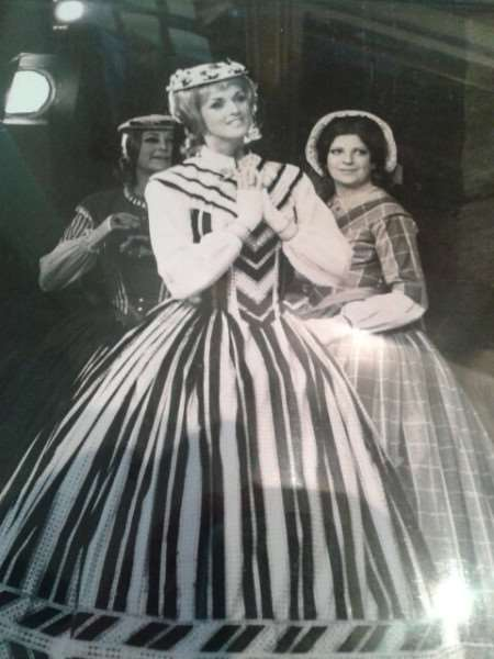 Abby Johnson on stage in a past performance of The Pirates of Penzance.