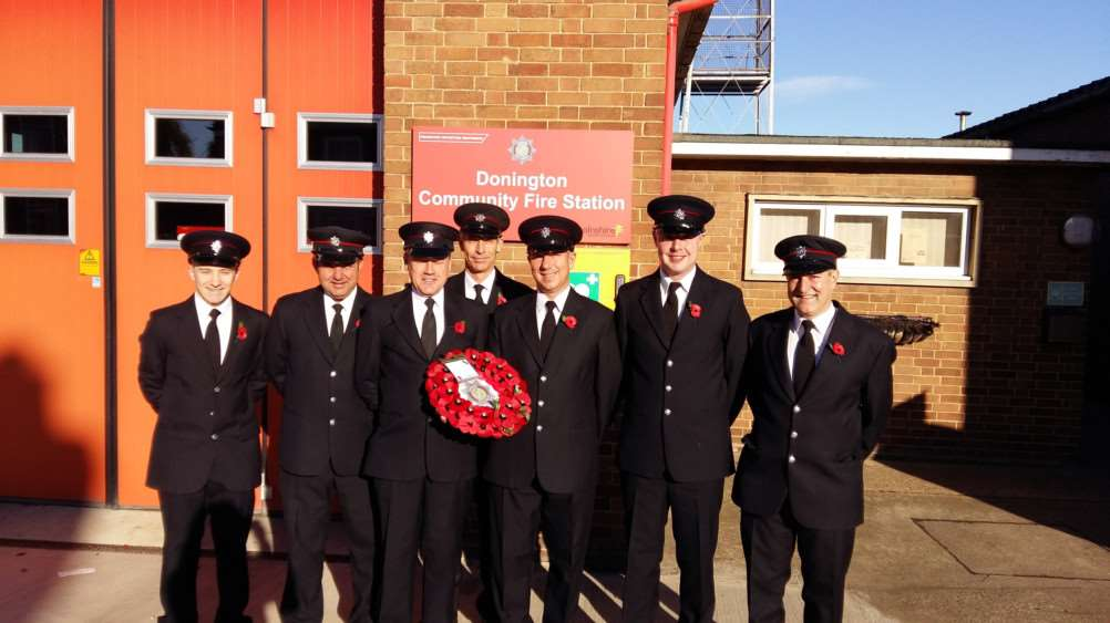 Donington Firefighters on Remembrance Sunday
