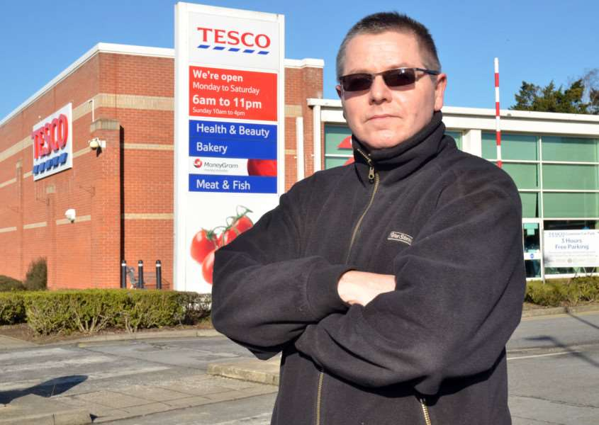 THEFT SLUR: Mark Bowley is boycotting Holbeach's Tesco Superstore after he was questioned about the theft of some deodorant which he strenously denies. Photo by Tim Wilson. SG070218-102TW.