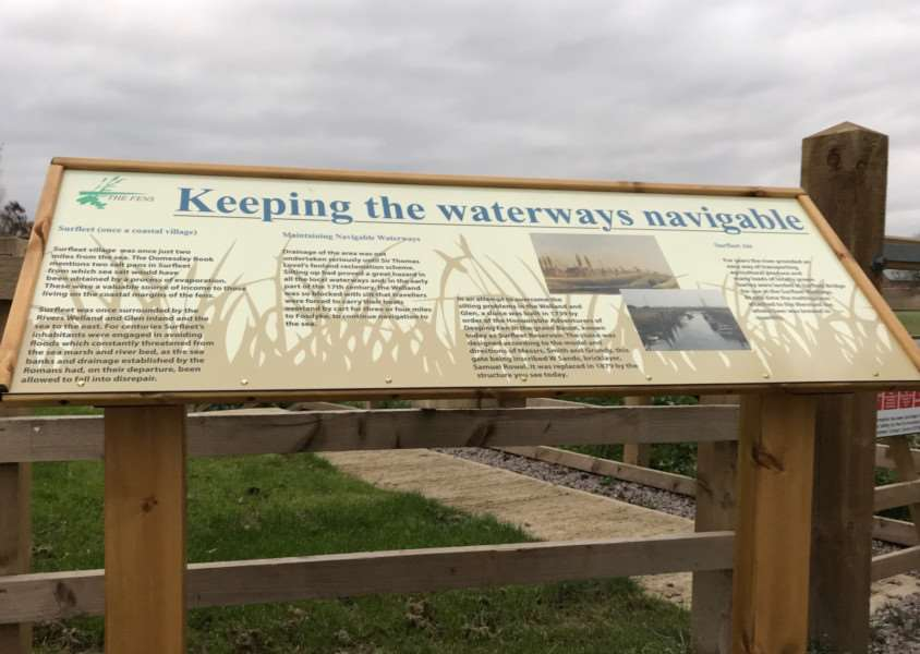 Find out about the history of Surfleet when you visit the sluice at Surfleet Reservoir. Photo: Judy Chapman