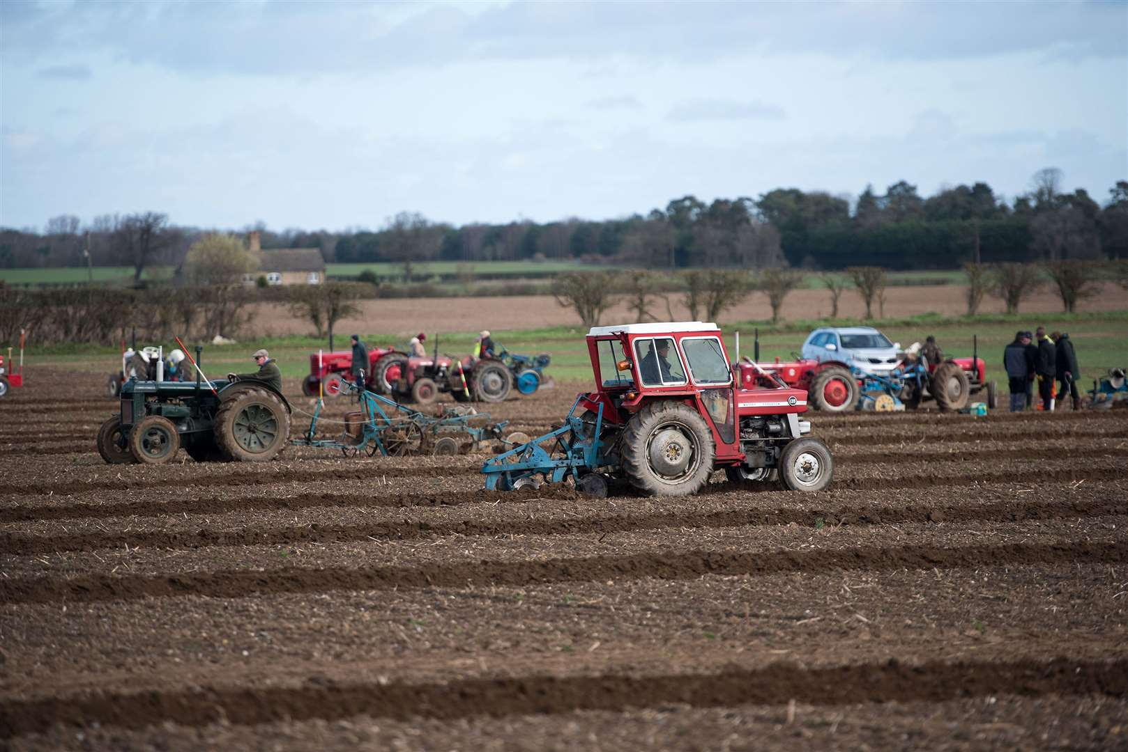 INGHAM: Plough Match taking place with winners judged on quality of ploughing .Annual plough match at Neville House Farm in Ingham. 9 sectors of field ploughed with judgements made based on quality of ploughing. Organised by Society of Ploughmen. Picture Mark Westley. (31163365)