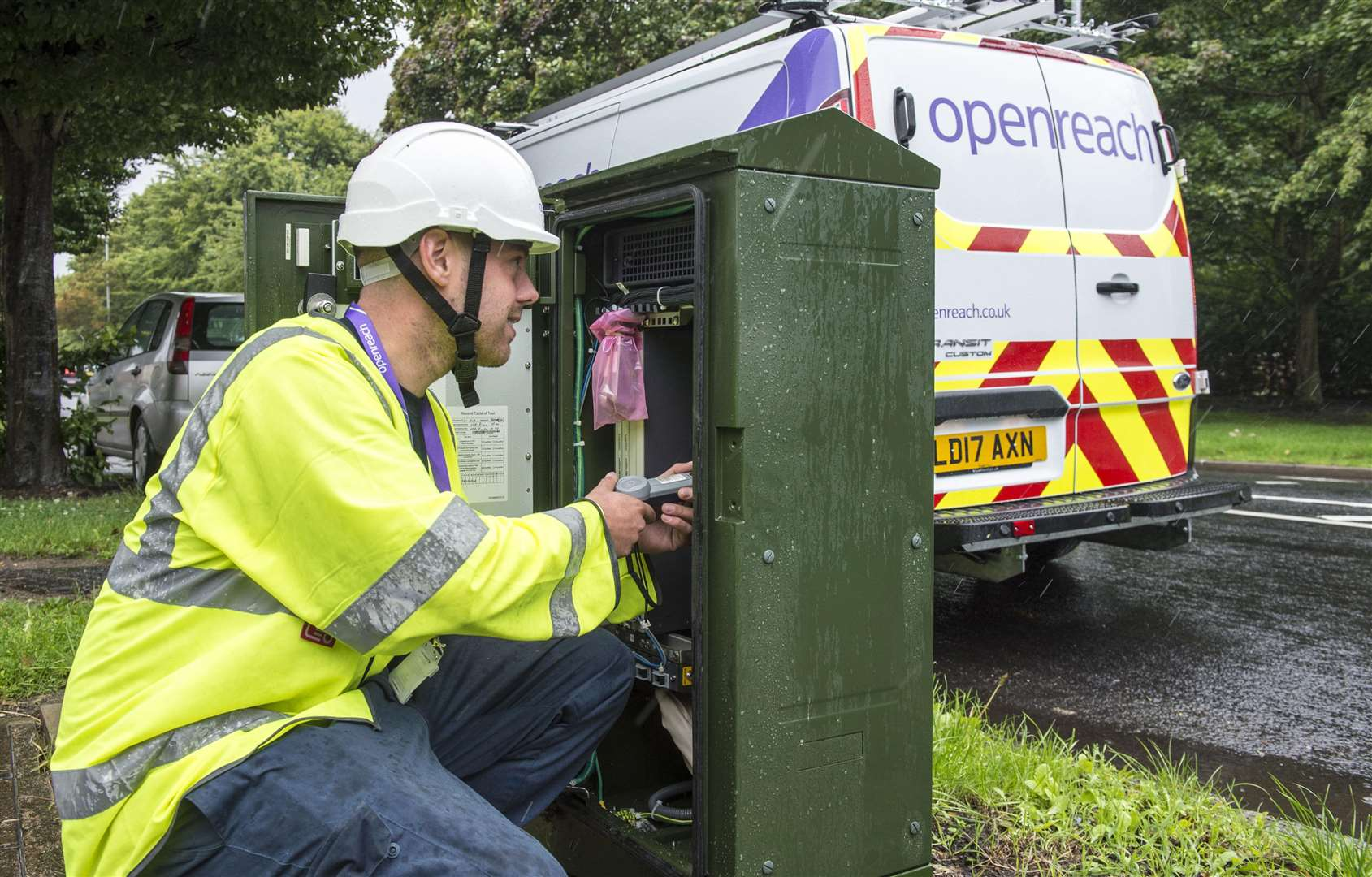 BT Openreach engineers are working on repairs to fibre optic cables that were cut in Holbeach St Johns overnight.Photo supplied.