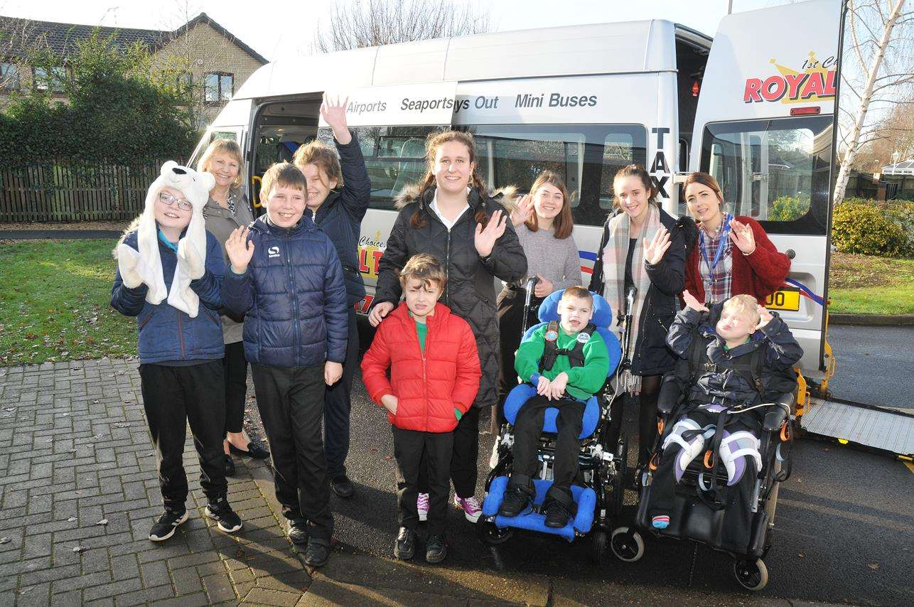 Just a few of the entire Garth School who headed off to see the Baytree panto thanks to Royal Taxis. (6040528)