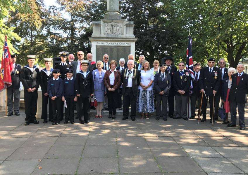 Jan Whitbourn attended a ceremony to remember those lost at sea in the World Wars.
