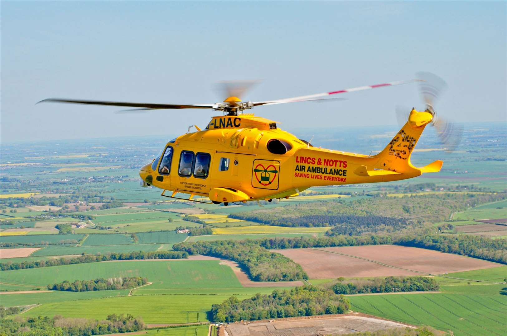 Lincs & Notts Air Ambulance has carried out more than 20,000 missions in its 25-year history.Photo supplied.
