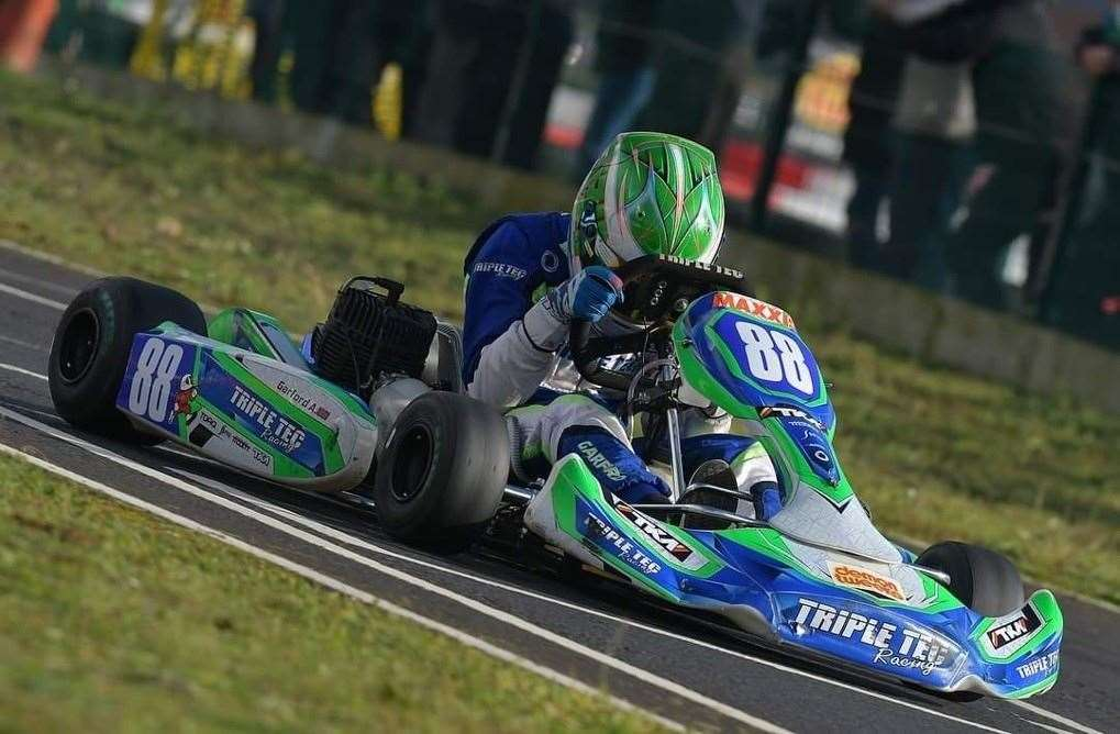 Alfie Garford in action at Fulbeck.