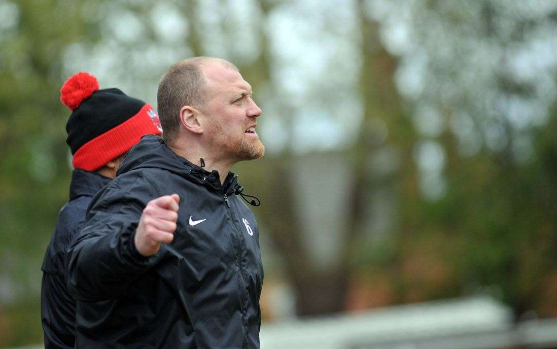 Pinchbeck United manager Ian Dunn.Photo by Tim Wilson.SG270419-021TW.
