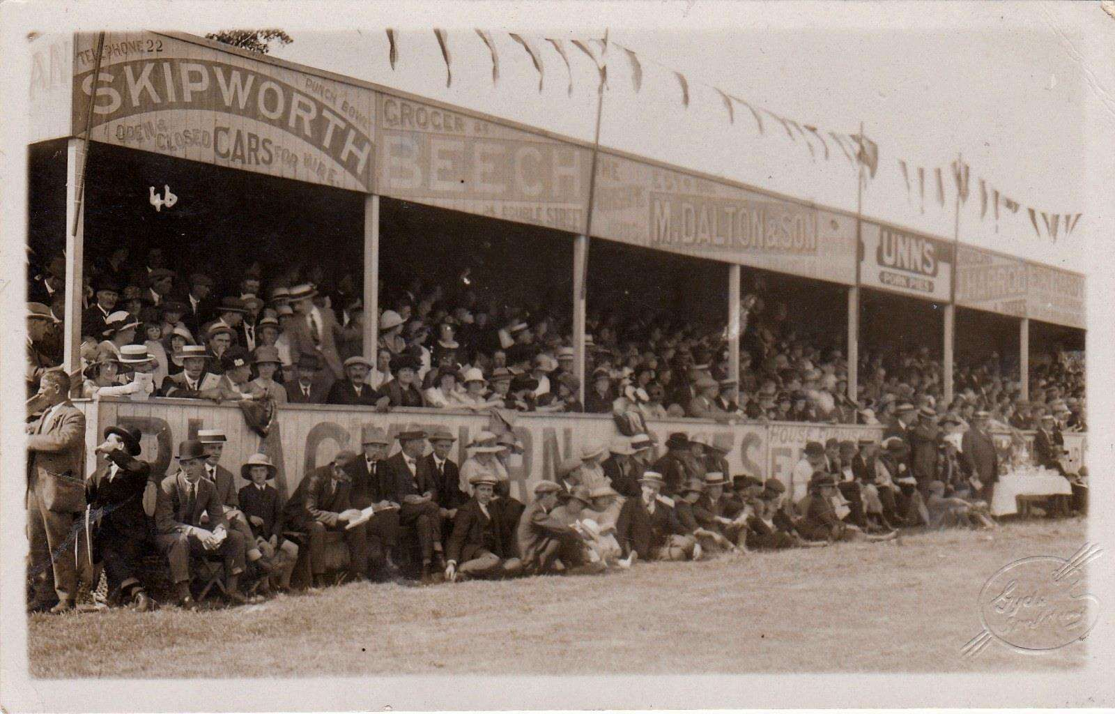 Those were the days - a jam-packed stand at the Black Swan Field.