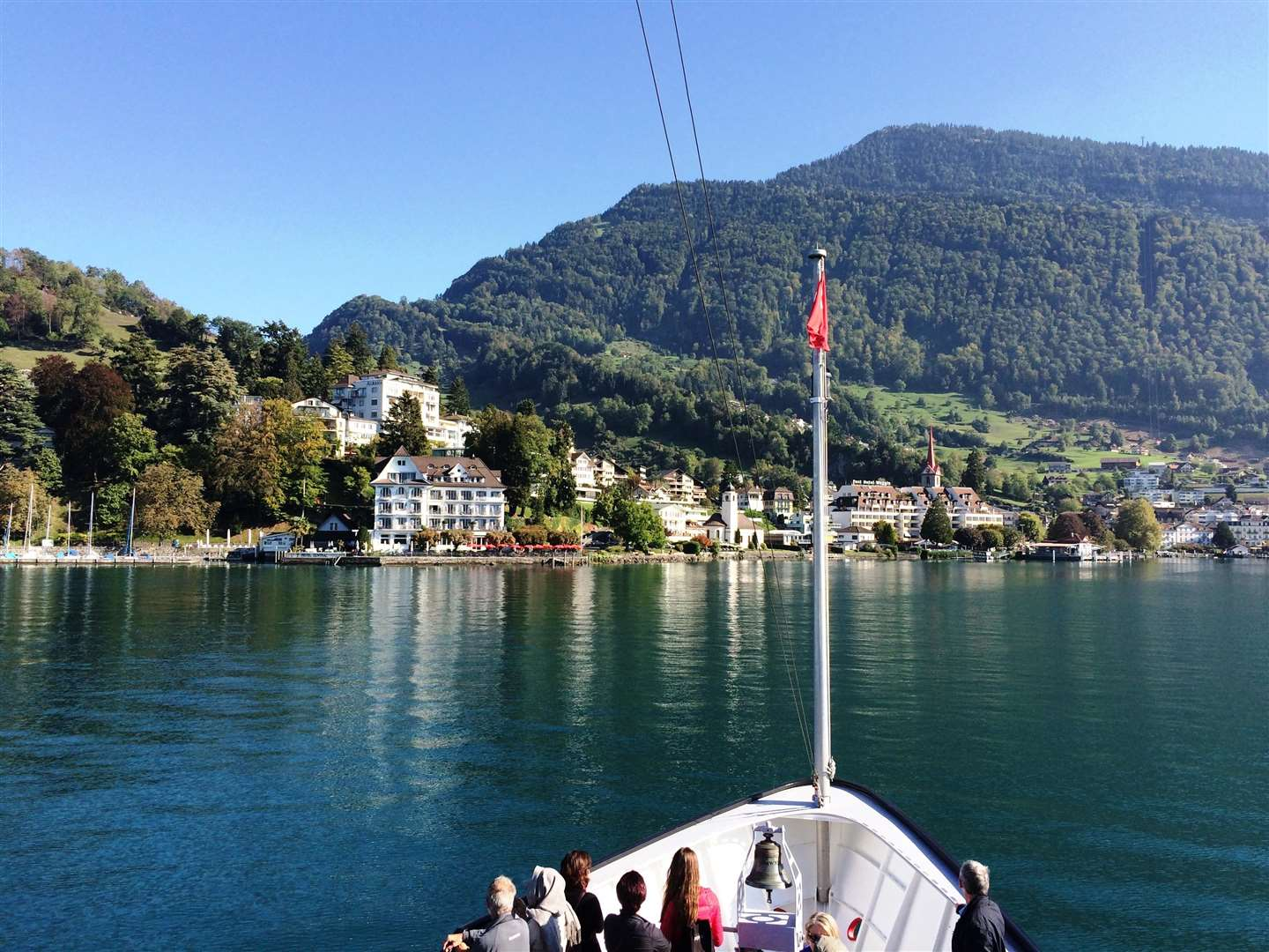 Approaching Weggis on Lake Lucerne.