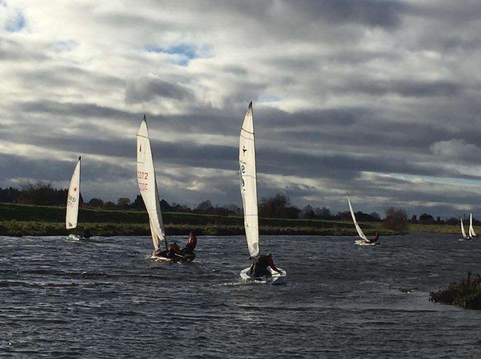 The fleet set sail in round three of Welland Yacht Club's Frostbite Series. Photo supplied. (5784187)