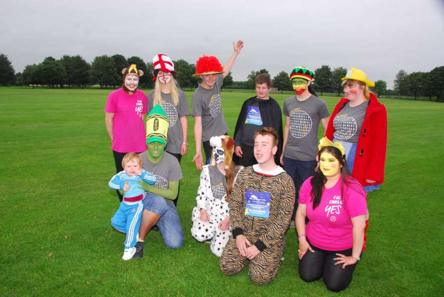 NCS students take part in a fancy dress sponsored walk during a previous programme