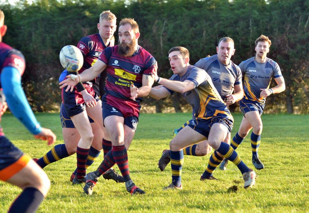 Action from Bourne against Spalding at Milking Nook Drove, Bourne.Photo by Tim Wilson.SG-141219-057TW.