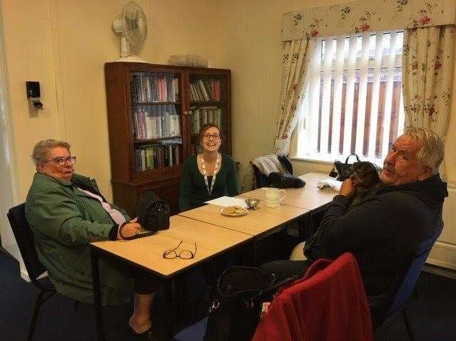 Residents from Lyndis Walk in Holbeach being supported by staff from South Holland District Council. (12156784)