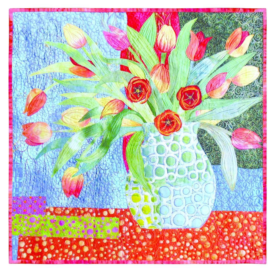 Why not pop along to the Christmas Quilt Show at Springfields Events Centre in Spalding this Friday and Saturday? Pictured is Cross Oceans Tulips by Jane Rollason - one of the beautiful quilts that will be on display. (5767598)
