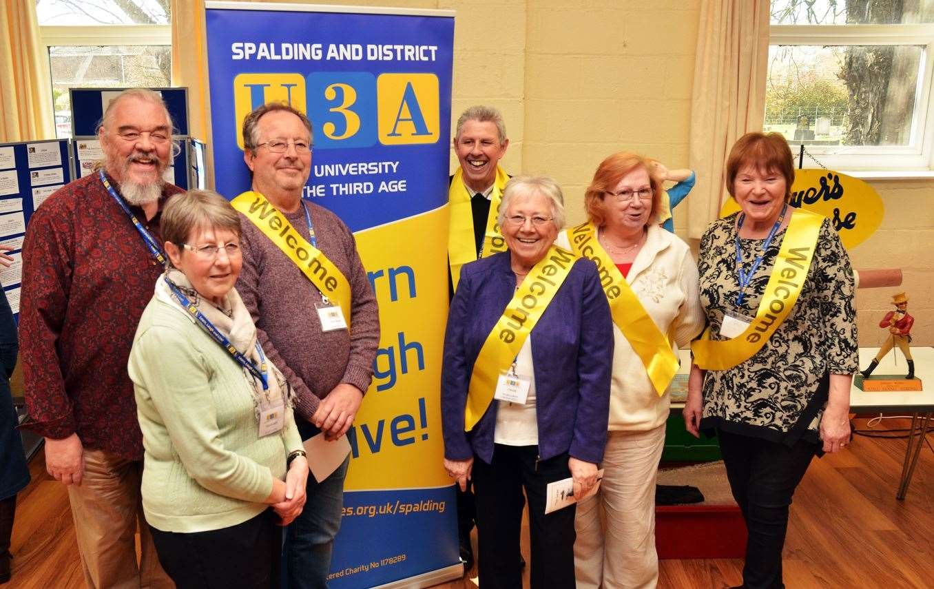 The Spalding and district U3A committee: Jon Healey (secretary), Mary Lane (treasurer and membership secretary), Alex McGregor (vice chair), Steve Field (publicity officer), Margaret Crossgrill (chair), Wendy McCallum (beacon advisor), Sheila Field (group coordinator). (8296862)