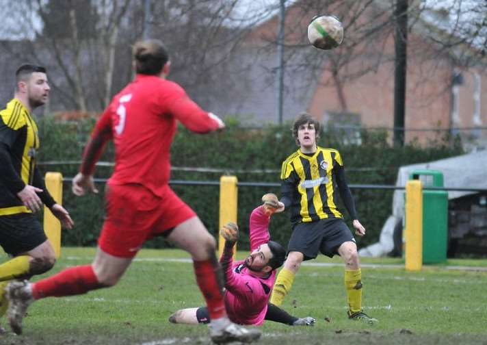 Will Bird misses the target for Holbeach