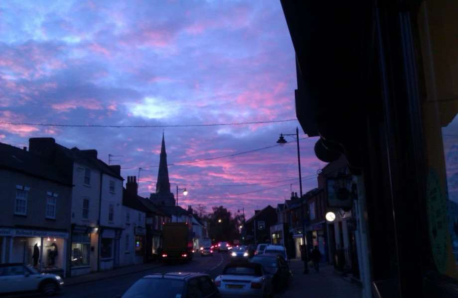 Trisha Elding took this picture in Holbeach at sunset late last summer.