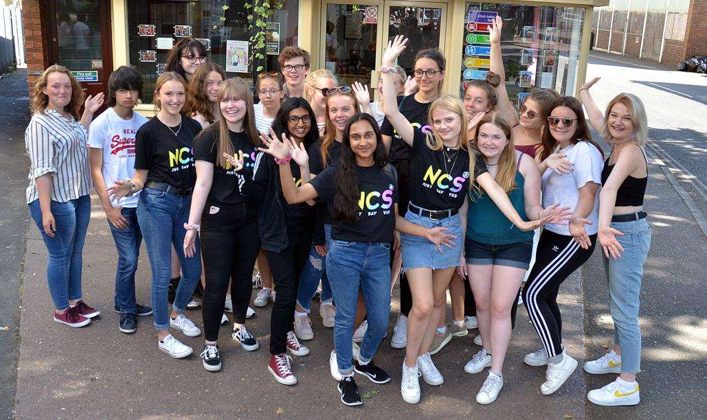 NCS students from four South Holland schools fundraising for charity. Photo (TIM WILSON): 240718SG-3