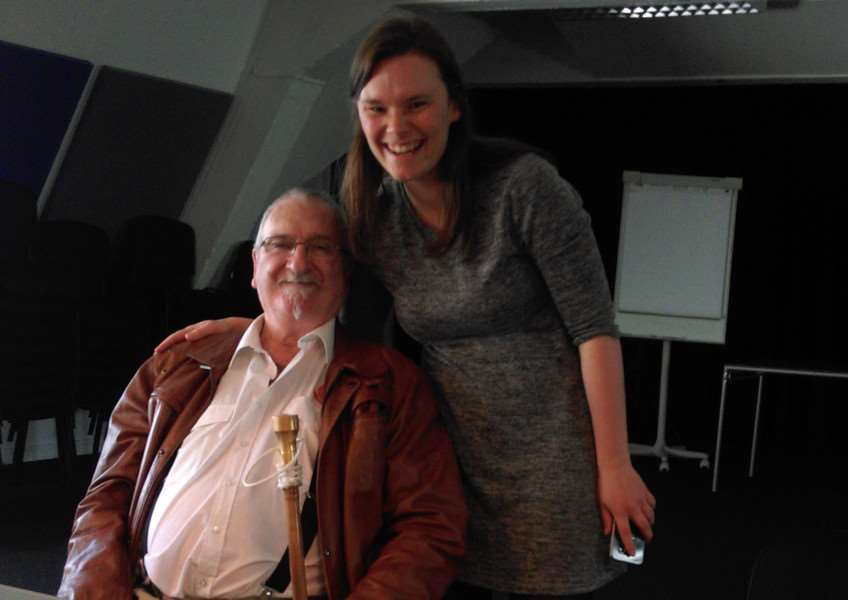 Douglas Hern with ICAN Norway campaigner Anne Marte Skaland. Photo supplied.