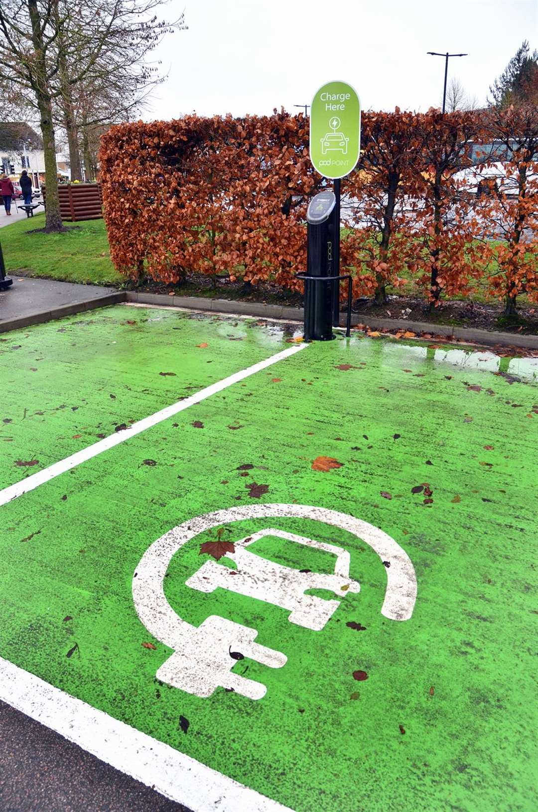 Could electric vehicle charging points, like these at Springfields, be coming to our council car parks? (5872150)