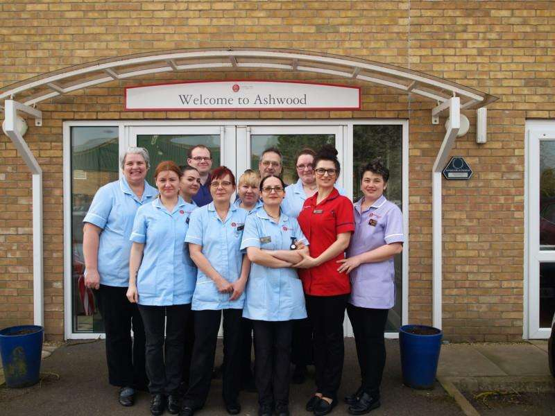 Staff at Ashwood Nursing and Care Home in Spalding