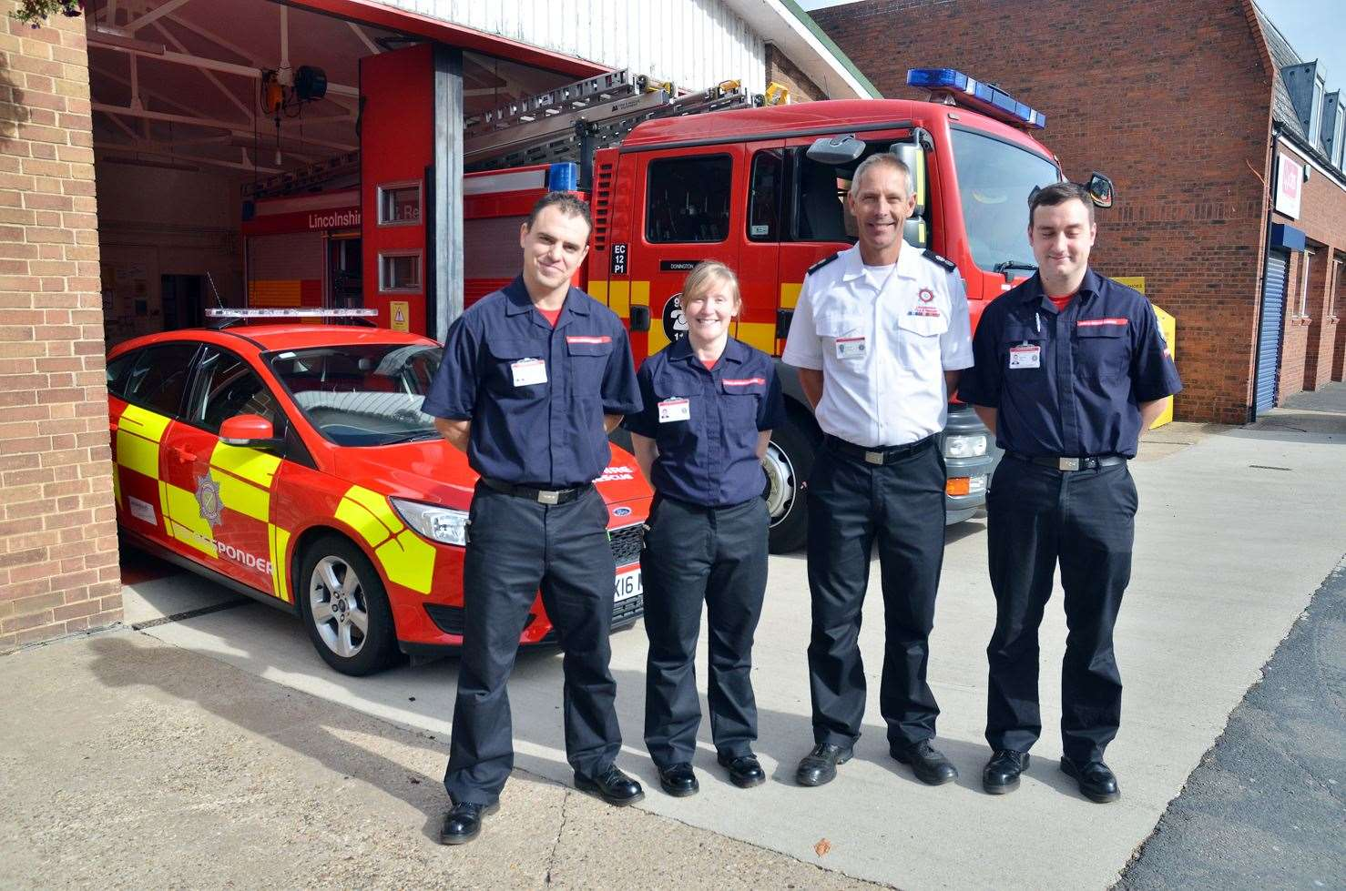 Donington firefighters will be washing cars to raise money for charity