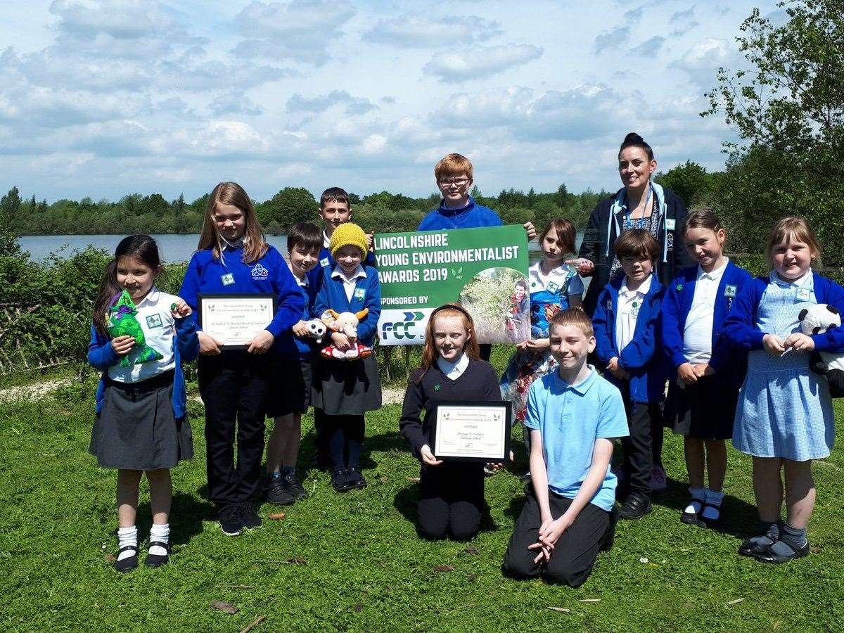 Winners from Deeping St Nicholas Primary School (with students pictured at the front) and St Faith and St Martin Church of England Junior School in Lincoln. (11327213)