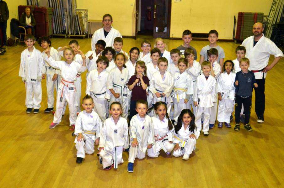Little Dragons and their instructors at The Vista, Spalding. Photo (TIM WILSON): SG080318-108TW