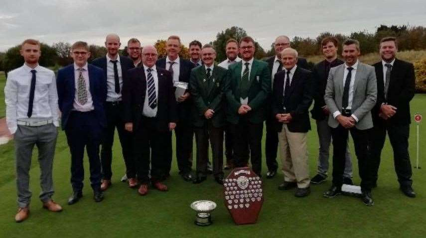 The team from Spalding Golf Club that won the Lincolnshire League Scratch Finals in Cleethorpes.Photo supplied.