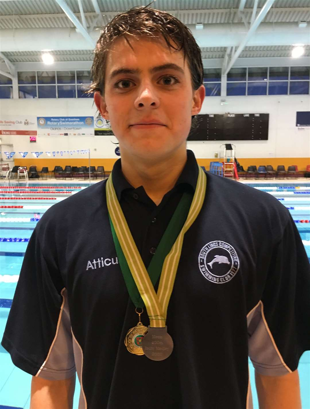 South Lincs Competitive Swimming Club medallist Atticus Strickland.Photo supplied.