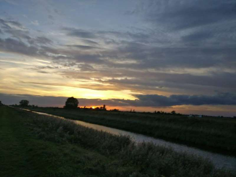 Sonia Metcalf took this picture of sunset at Vernatts Drain