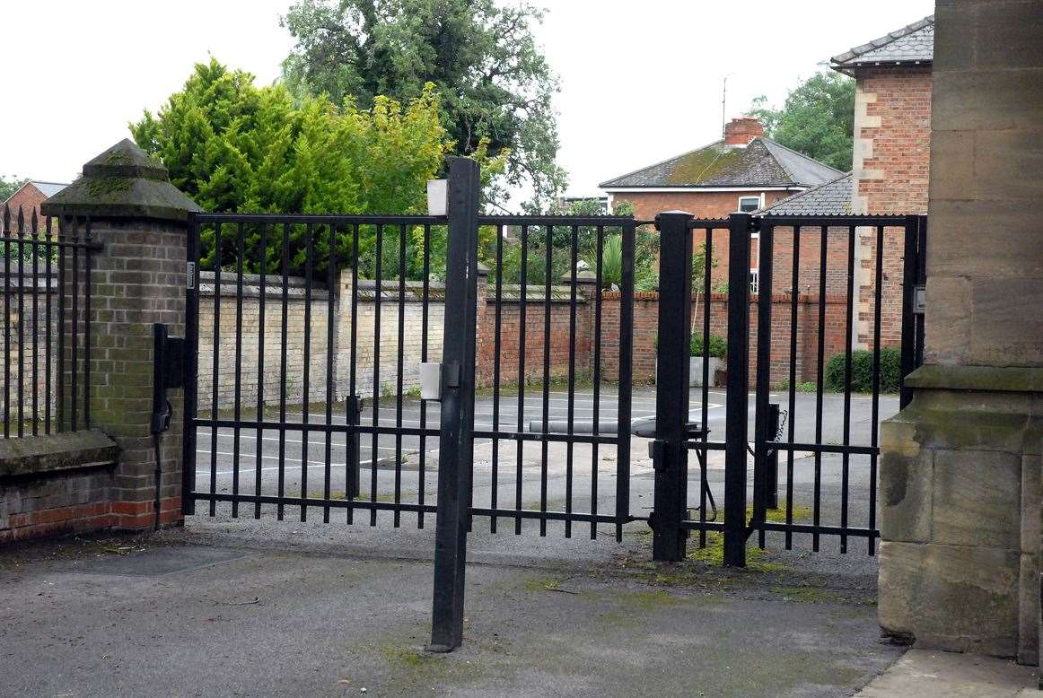 Safe and secure - the car park at the side of The Sessions House