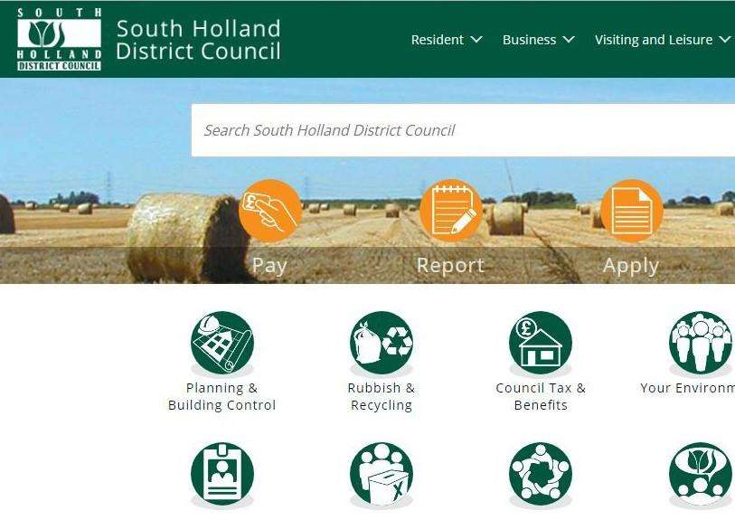 South Holland District Council's website