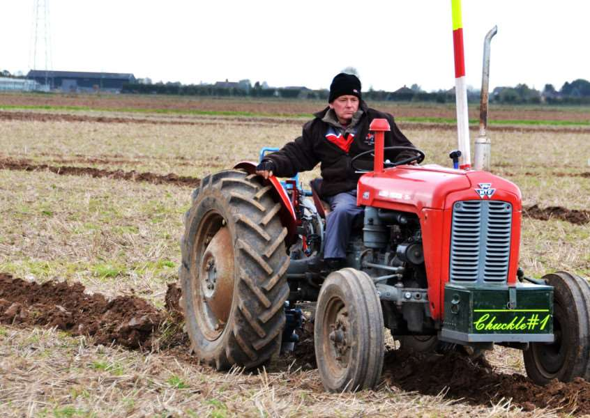 One of the competitors in the ploughing match. Photo: SG221017-100TW