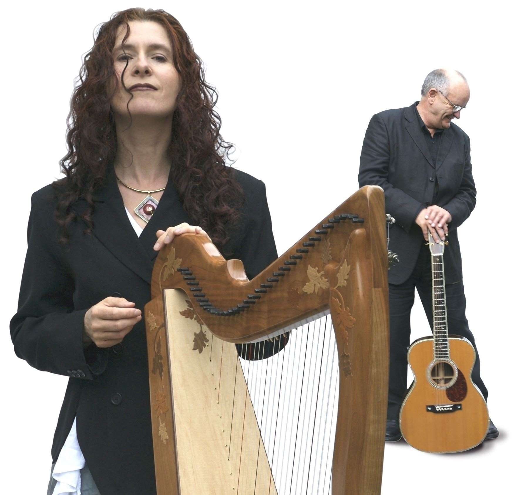Maire Ni Chathasaigh and Chris Newman perform at the Market House in Long Sutton on Wednesday. Photo by Simon Mayor.