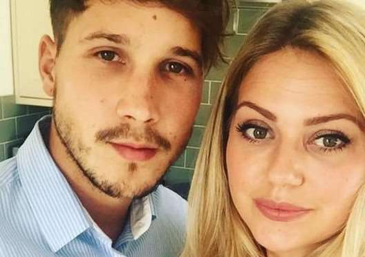 Carly Simpson and Jake Clitheroe, who are getting married on the same day as Prince Harry and Meghan Markle.
