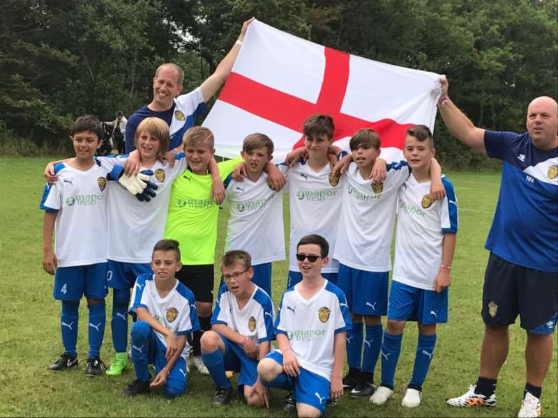 Spalding United Blue Under-11s recently flew the flag for the country in a major tournament in Denmark