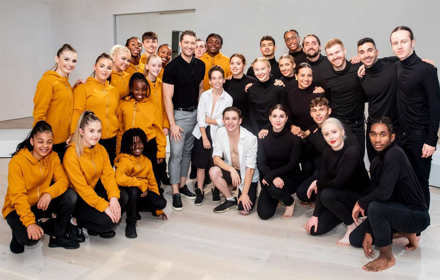 Street dance group Prospects Fraternity, with Tydd St Mary teenager Dolcie Simmons (back row, third left). Photo by Tom Dymond, courtesy of Syco/Thames Productions.