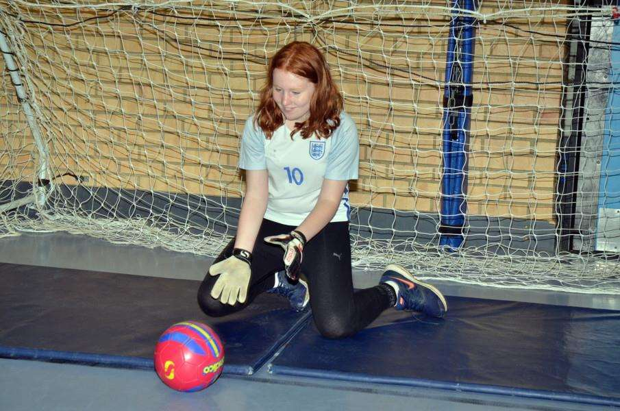 Penalty shoot out with Abbie Lees