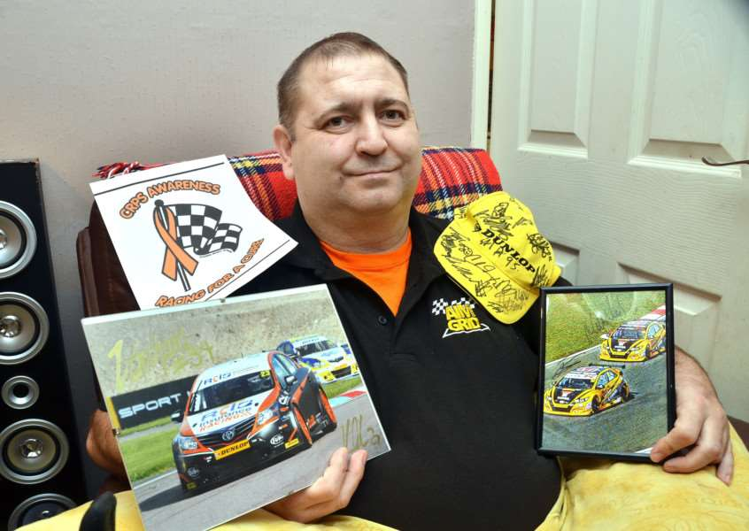 James Wilson-White with his racing memorabilia. SG041117-167TW
