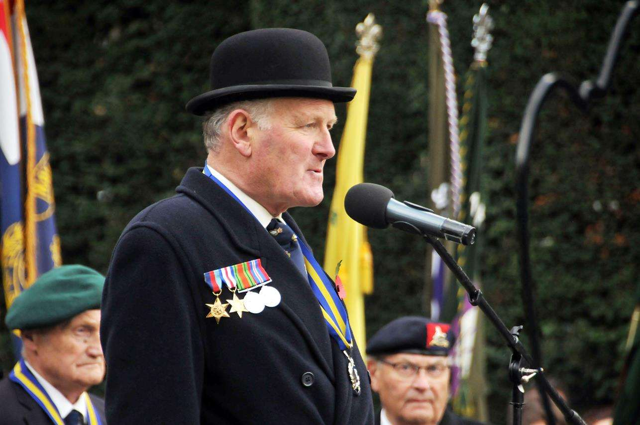 Chris Carter, President of the Royal British Legion Spalding Branch. Photo by Tim Wilson. SG-111118-168TW